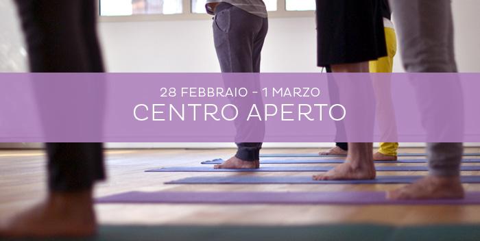 Centro Aperto: un fine settimana di yoga e benessere al Centro Yoga Le Vie del Dharma