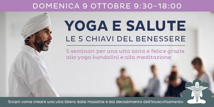 9 ottobre: Yoga e Salute – Le Leggi del Prana e l'autoguarigione