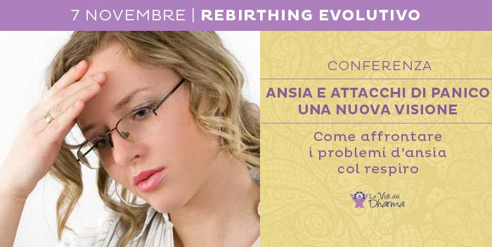 7 novembre: conferenza sul Rebirthing Evolutivo,