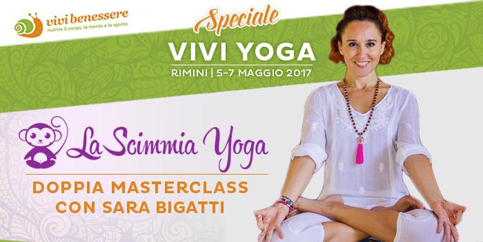 """Doppia masterclass con Sara Bigatti di """"La Scimmia Yoga"""" a Vivi Yoga"""