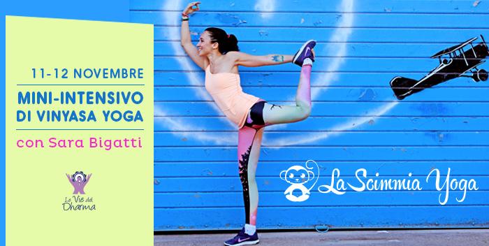 Mini-Intensivo di Vinyasa Yoga con Sara Bigatti (La Scimmia Yoga)