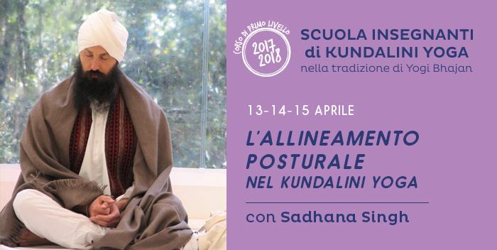 13-14-15 aprile: l'Allineamento Posturale nel Kundalini Yoga, con Sadhana Singh