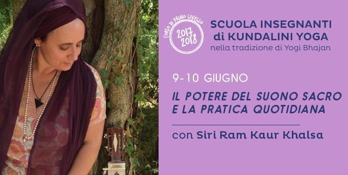 9-10 giugno: il potere del suono sacro e la pratica quotidiana, seminario con Siri Ram Kaur Khalsa