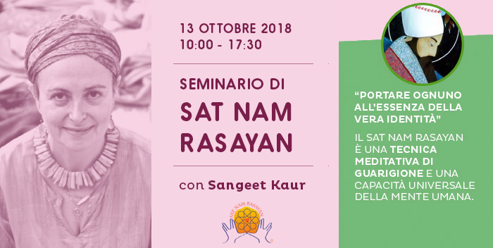 13 ottobre – Seminario introduttivo di Sat Nam Rasayan