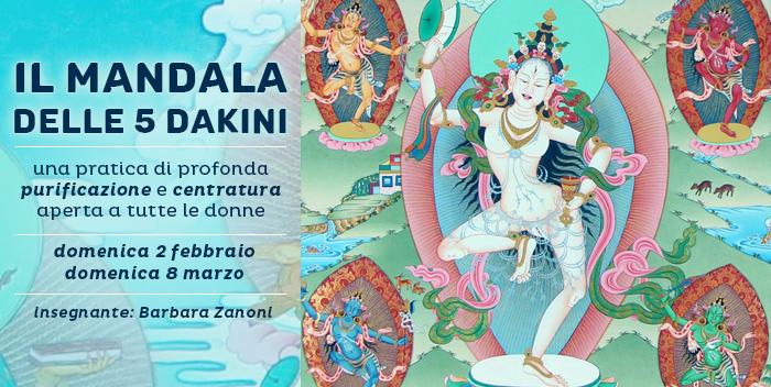 8 marzo: il Mandala delle 5 Dakini
